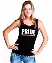 Goedkope gay pride lesbo tanktop shirt zwart pride dames