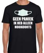 Goedkope geen paniek ik heb alleen hooikoorts t-shirt zwart voor heren