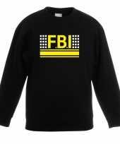 Goedkope geheim politie agent sweater trui zwart voor kinderen