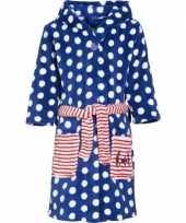 Goedkope gestipte blauwe badjas voor kinderen