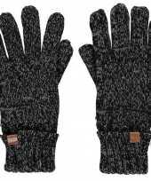 Goedkope grijze gemeleerde handschoenen met fleece voering voor jongens meisjes kinderen