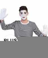 Goedkope grote maat mime verkleed shirt voor heren