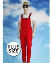 Goedkope grote maat rode tuinbroek voor dames en heren