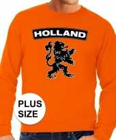 Goedkope grote maten hollandse leeuw supporter trui oranje heren