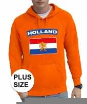Goedkope grote maten hollandse vlag supporter trui oranje heren