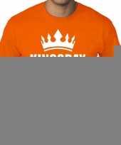 Goedkope grote maten kingsday koningsdag met kroon shirt oranje heren