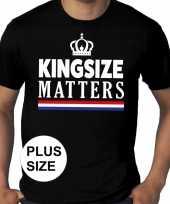 Goedkope grote maten kingsize matters koningsdag met kroon shirt zwart heren