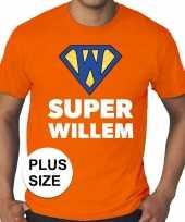 Goedkope grote maten koningsdag super willem shirt oranje heren