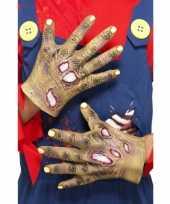 Goedkope halloween handschoenen zombie