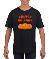 Goedkope happy halloween t-shirt zwart voor jongens en meisjes