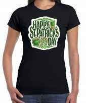 Goedkope happy st patricks day feest-shirt outfit zwart voor dames st patricksday