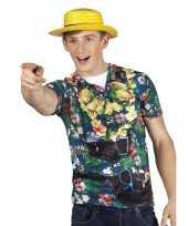 Goedkope hawaii overhemd fotoprint bloemen voor heren