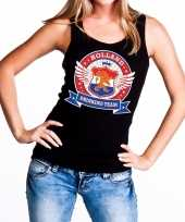 Goedkope holland drinking team tanktop mouwloos shirt zwart dames 10140298