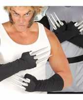 Goedkope horror handschoenen met nep ijzeren nagels