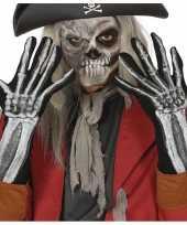 Goedkope horror skelet gala handschoenen 40 cm