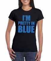 Goedkope i m pretty in blue t-shirt zwart dames