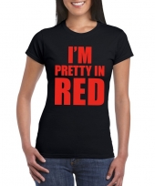 Goedkope i m pretty in red t-shirt zwart dames