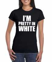 Goedkope i m pretty in white t-shirt zwart dames