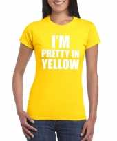 Goedkope i m pretty in yellow t-shirt geel dames