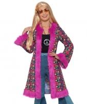 Goedkope jaren 60 peace verkleedjas voor dames