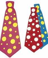 Goedkope jumbo stropdas met stippen 50 cm