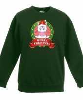Goedkope kersttrui met eenhoorn groen voor jongens en meisjes