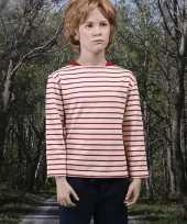 Goedkope kleren gestreept kinder t-shirt