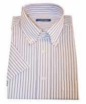 Goedkope kleren heren overhemd gestreept wit 10015772