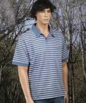 Goedkope kleren poloshirt bretonse streep blauw