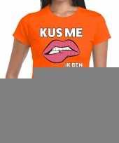Goedkope kus me ik ben geslaagd oranje fun t-shirt voor dames