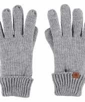 Goedkope lichtgrijze handschoenen met fleece voering voor jongens meisjes kinderen