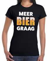 Goedkope meer bier graag fun t-shirt zwart voor dames