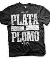 Goedkope merchandise narcos plata o plomo shirt heren