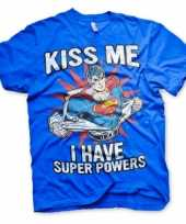 Goedkope merchandise superman powers shirt heren