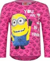 Goedkope minion t-shirt fuchsia