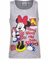 Goedkope mouwloos minnie mouse t-shirt grijs