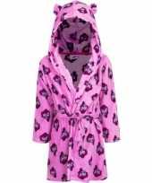 Goedkope my little pony fleece badjas roze met capuchon voor kinderen