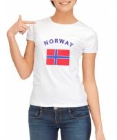 Goedkope noorse vlag t-shirt voor dames