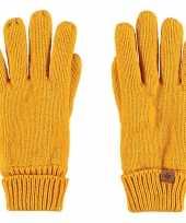 Goedkope okergele handschoenen met fleece voering voor jongens meisjes kinderen