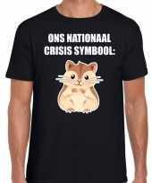Goedkope ons nationaal crisis symbool hamster coronavirus t-shirt zwart voor heren