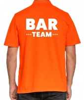 Goedkope oranje bar team polo shirt voor heren