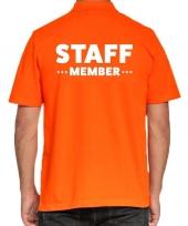 Goedkope oranje event staff meber polo shirt voor heren