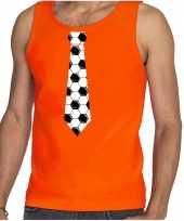 Goedkope oranje fan tanktop kleren holland voetbal stropdas ek wk voor heren