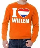 Goedkope oranje i love willem trui heren en dames