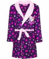 Goedkope paarse princess ochtendjas met capuchon voor meisjes