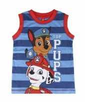 Goedkope paw patrol kinder t-shirt zonder mouwen