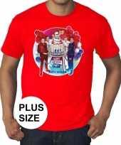 Goedkope plus size officieel toppers in concert 2019 t-shirt rood eren