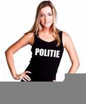 Goedkope politie mouwloos shirt zwart voor dames