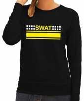 Goedkope politie swat arrestatieteam sweater trui zwart voor dames