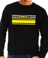 Goedkope politie swat arrestatieteam sweater trui zwart voor heren